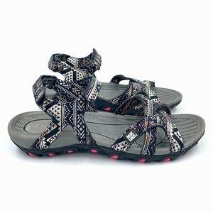 MUK LUKS Metallic Sport Sandals NWOB Sz 8